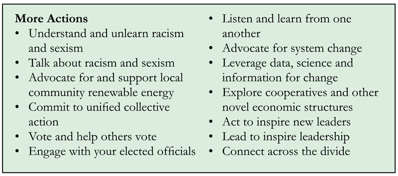 From Diversifying Power: Why We Need Antiracist, Feminist Leadership on Climate and Energy by Jennie C. Stephens. Copyright © 2020 by Jennie C. Stephens. Reproduced by permission of Island Press, Washington, D.C. All author proceeds from sales will be donated to the NAACP's environmental and climate justice program.From Diversifying Power: Why We Need Antiracist, Feminist Leadership on Climate and Energy by Jennie C. Stephens. Copyright © 2020 by Jennie C. Stephens. Reproduced by permission of Island Press, Washington, D.C. All author proceeds from sales will be donated to the NAACP's environmental and climate justice program.