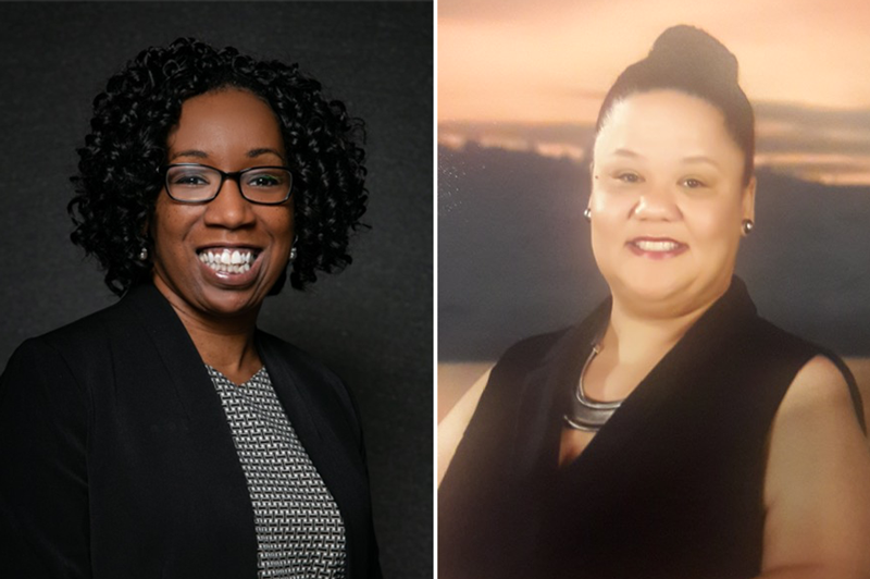 Left: Leonelle Thompson, director of Career and Professional Development at Langston University, Oklahoma's only HBCU. Right: Stephanie Galloway, a chemical engineer, and career and technical education teacher at Wunsche High School in Spring, Texas.