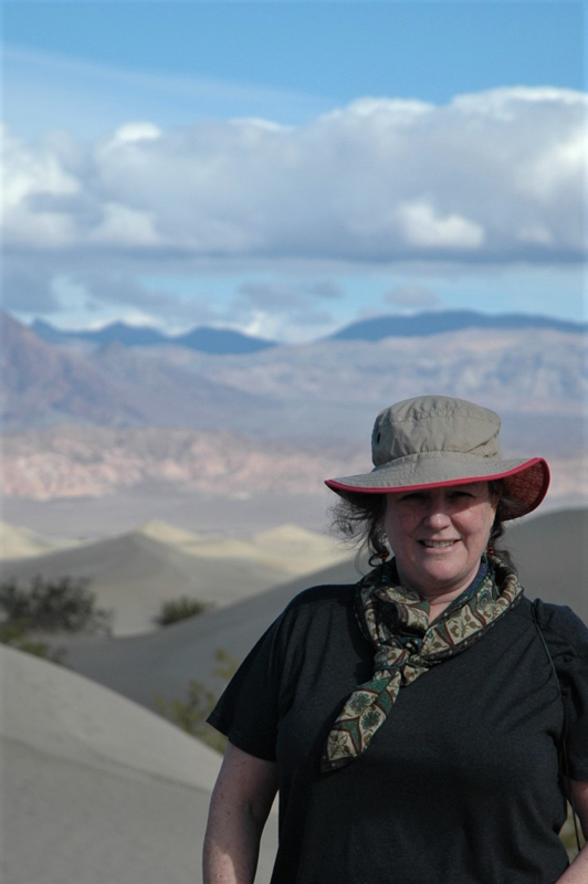 Ann Robertson-Tait, president of GeothermEx, Inc. and global chair, Women in Geothermal (WING), shown in Death Valley, the hottest, driest, lowest national park in the U.S.