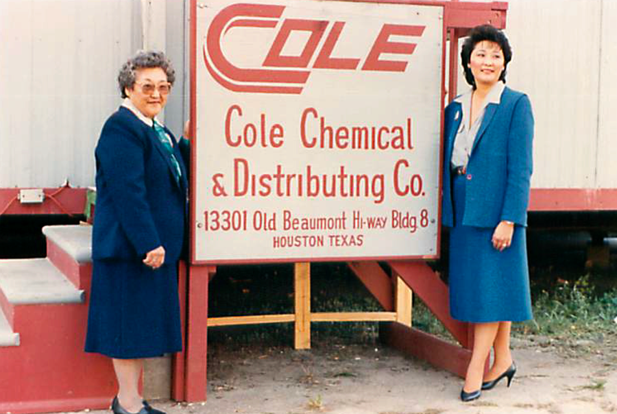 """From """"meager beginnings,"""" as she calls the early days, Cole grew Cole Chemical into a multi-million-dollar business."""