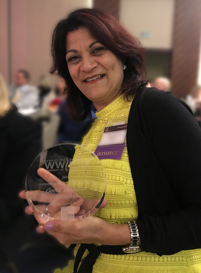 Geeta Thakorlal, then-president of INTECSEA, was a 2017 recipient of the Houston Business Journal (HBJ) Women Who Mean Business in Energy Award.