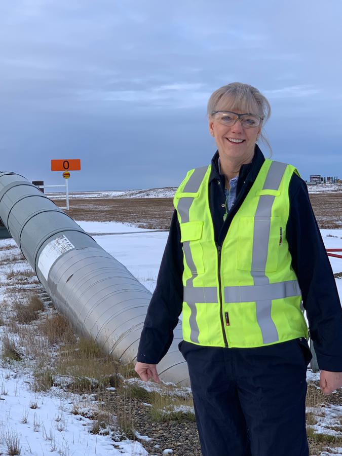 Karen Sobel on-site in Alaska.