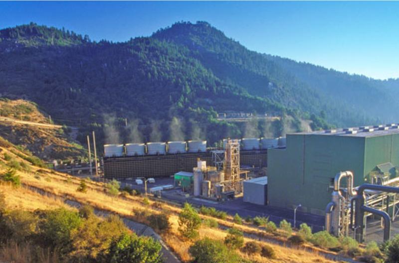 The Geysers, CA – 70 MW Dry Steam Plant. Photo courtesy of www.calpine.com.