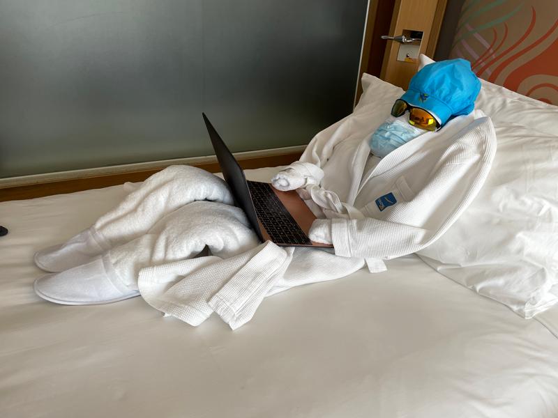 """""""Towel man"""" in quarantine."""