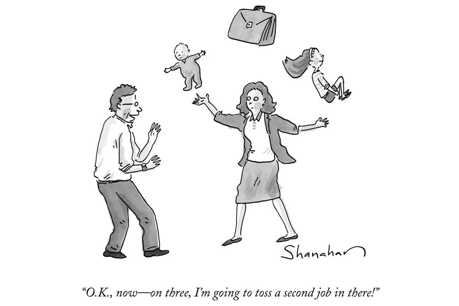 Oilwoman Cartoon