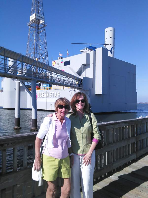 Pat Thomson (L) and Rebecca Ponton (R), at the Ocean Star Museum, Galveston, Texas (October 2015).