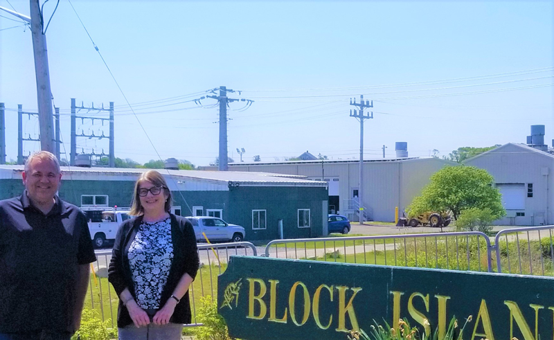 Jeff Wright, president, Block Island Utility District (DBA Block Island Power Company), and Barbara MacMullan, chair of the Board of Utility Commissioners on Block Island.