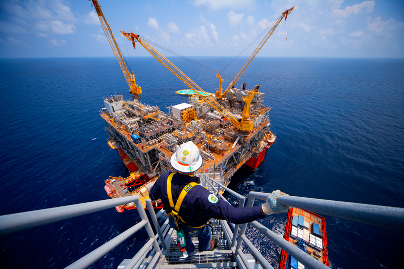 Atlantis production platform operated by bp in the Gulf of Mexico.