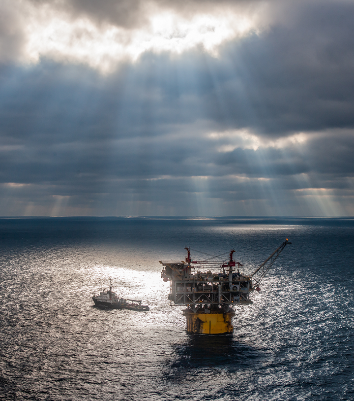Horn Mountain production platform operated by Occidental Petroleum in the Gulf of Mexico.