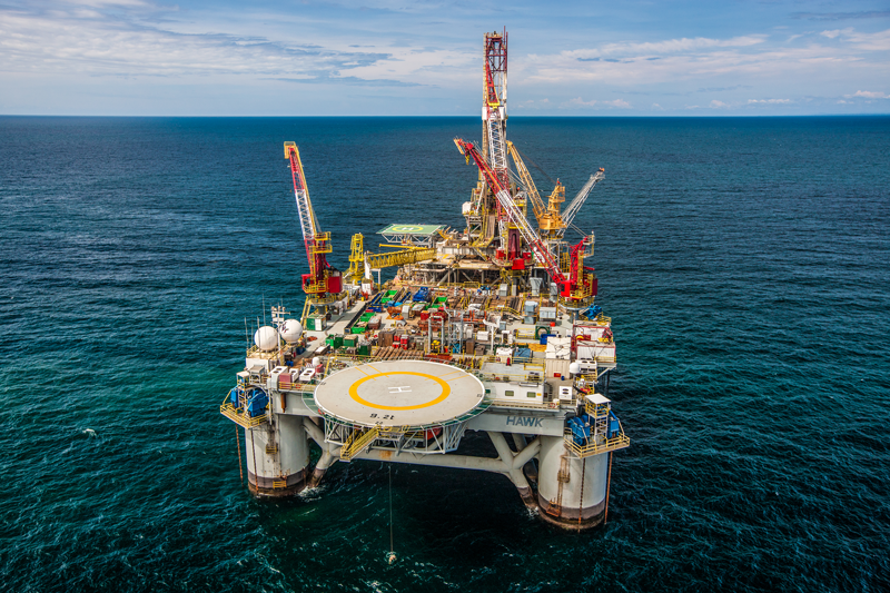 Production platform operated by Kosmos and Trident in Equatorial Guinea, West Africa.