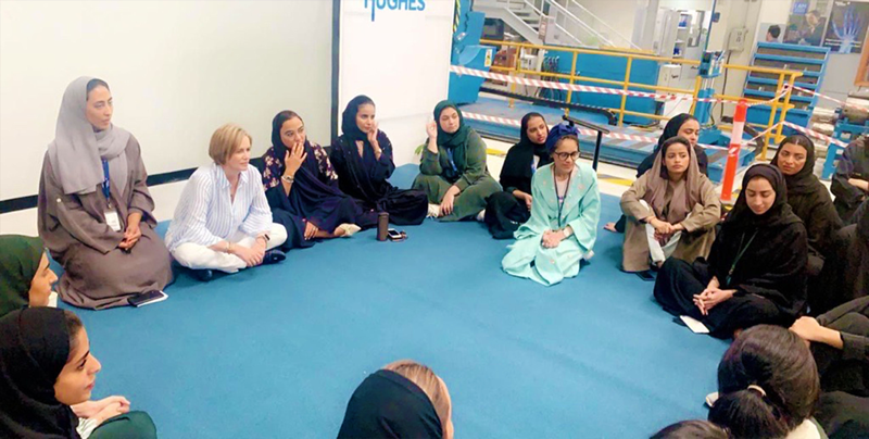 Borras shares her career journey and on-the-job experience with female Saudi engineers. The conversation centered around career development opportunities and challenges in the workplace. (2019)