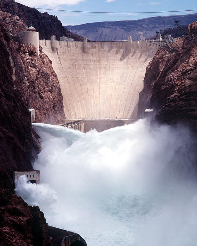 The Hoover Dam on the border between Nevada and Arizona. Photo courtesy of the Bureau of Reclamation.